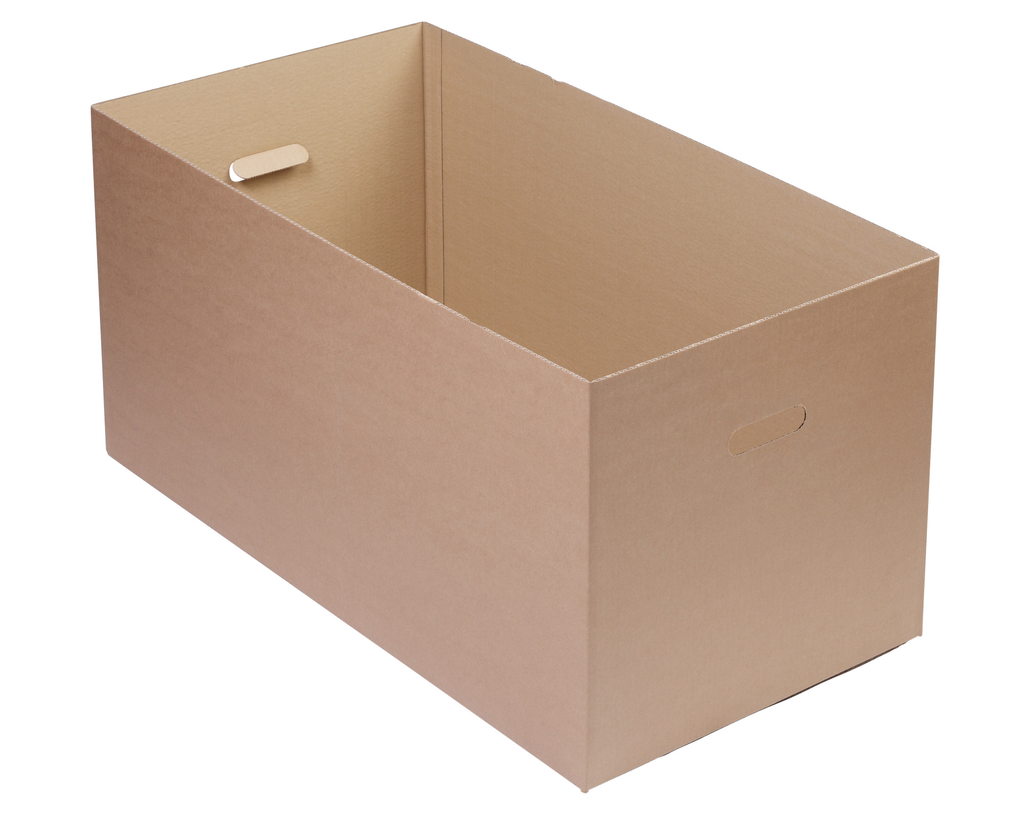 770 x 400 x 380mm Single Wall Carton 0200 with Hand Holes