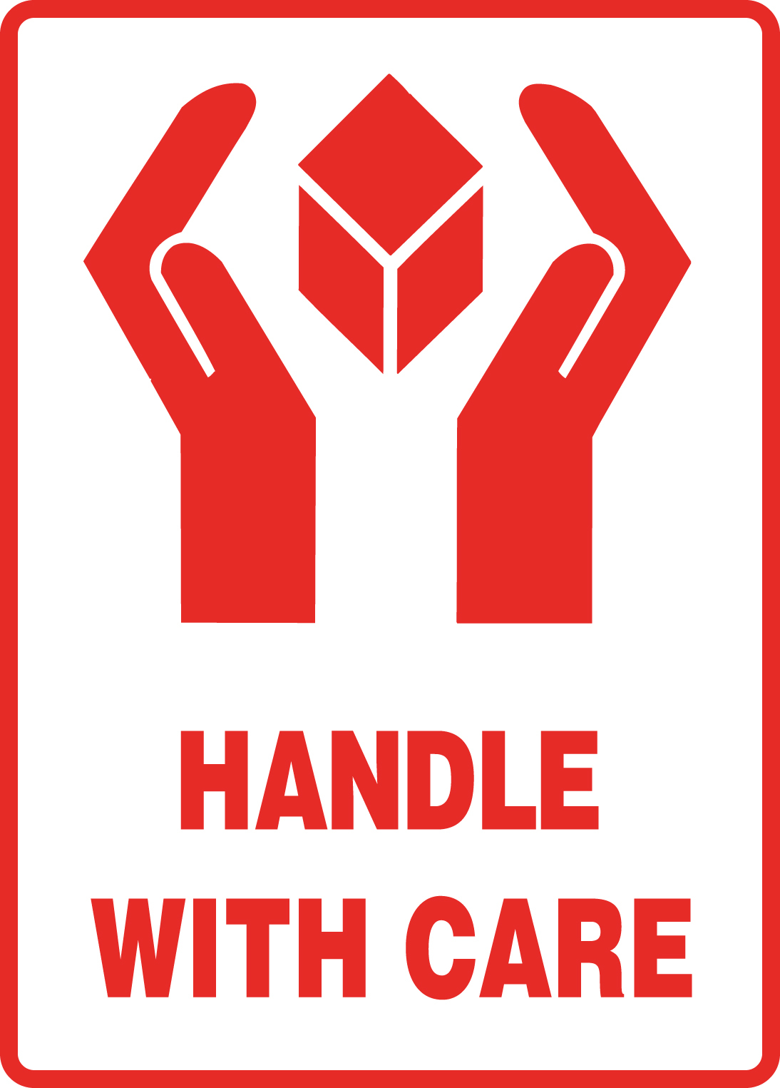 "108 x 79mm ""Handle With Care"" Labels"