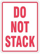 "108 x 79mm ""Do Not Stack"" Labels"