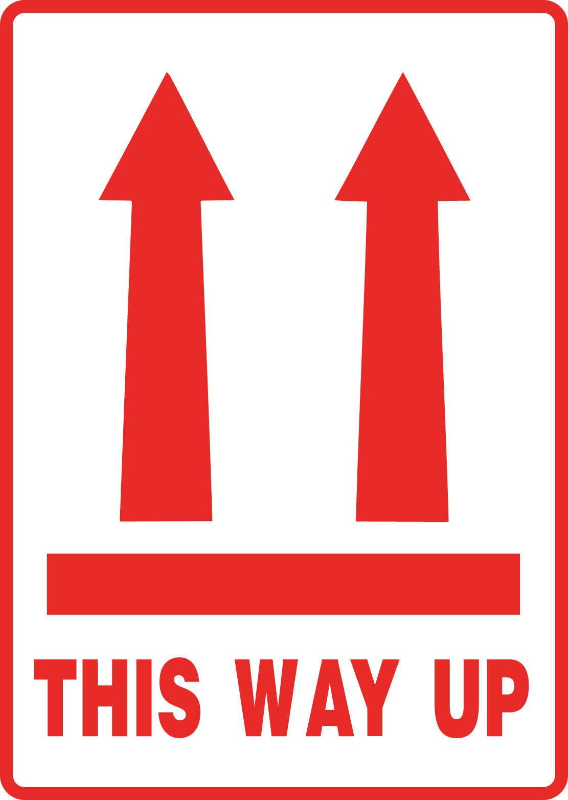 "108 x 79mm ""This Way up"" Labels"