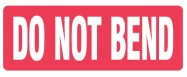 "89 x 32mm ""Do Not Bend"" Labels"