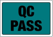 "86 x 63mm ""QC Pass"" Labels"