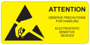 "51 x 51 mm Medium  ""ESD Warning"" Labels"