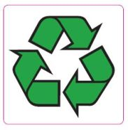 51 x 51mm Recycle Symbol Labels