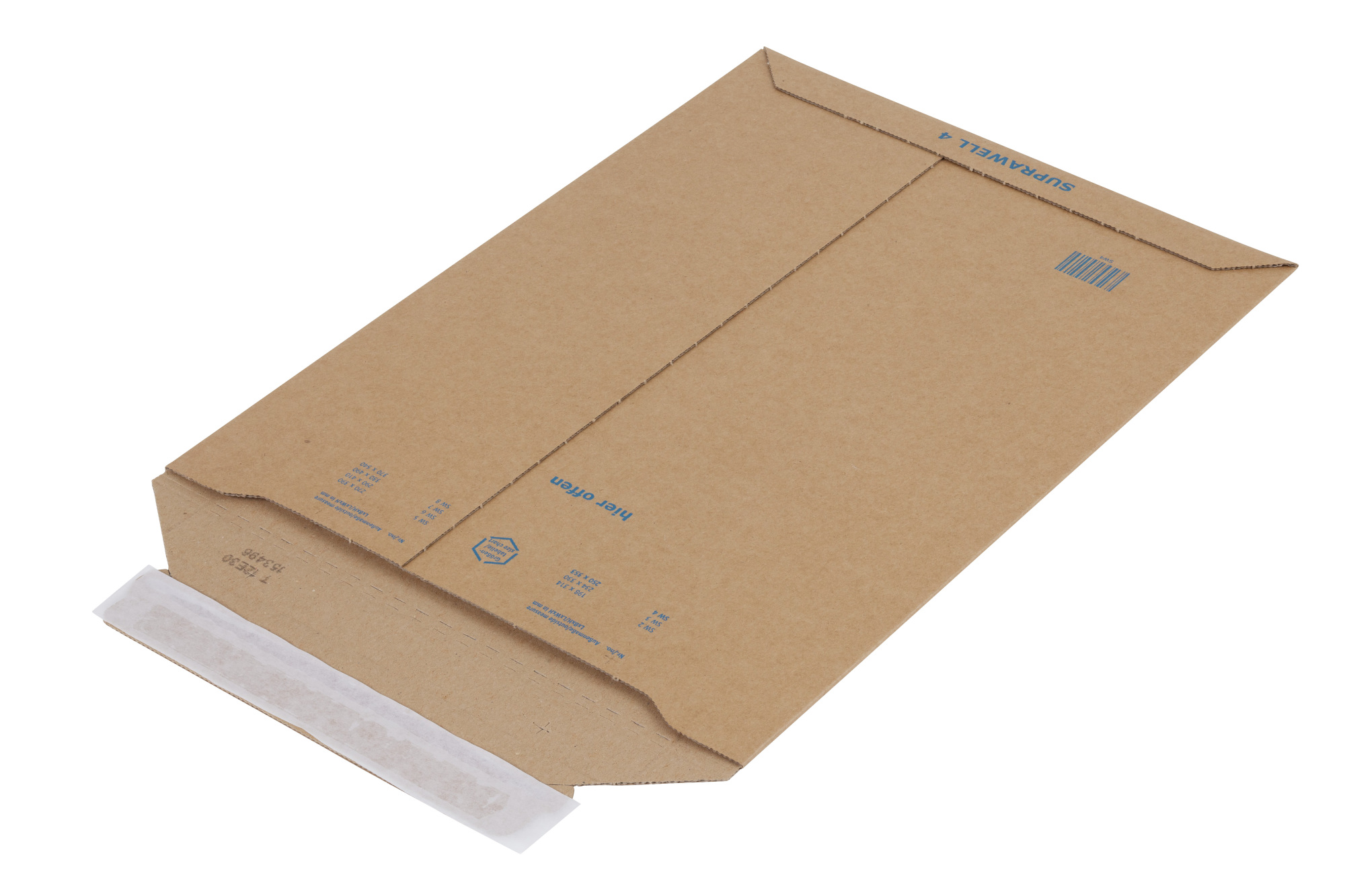 Suprawell Corrugated Envelopes 250 x 353mm (100/Box)
