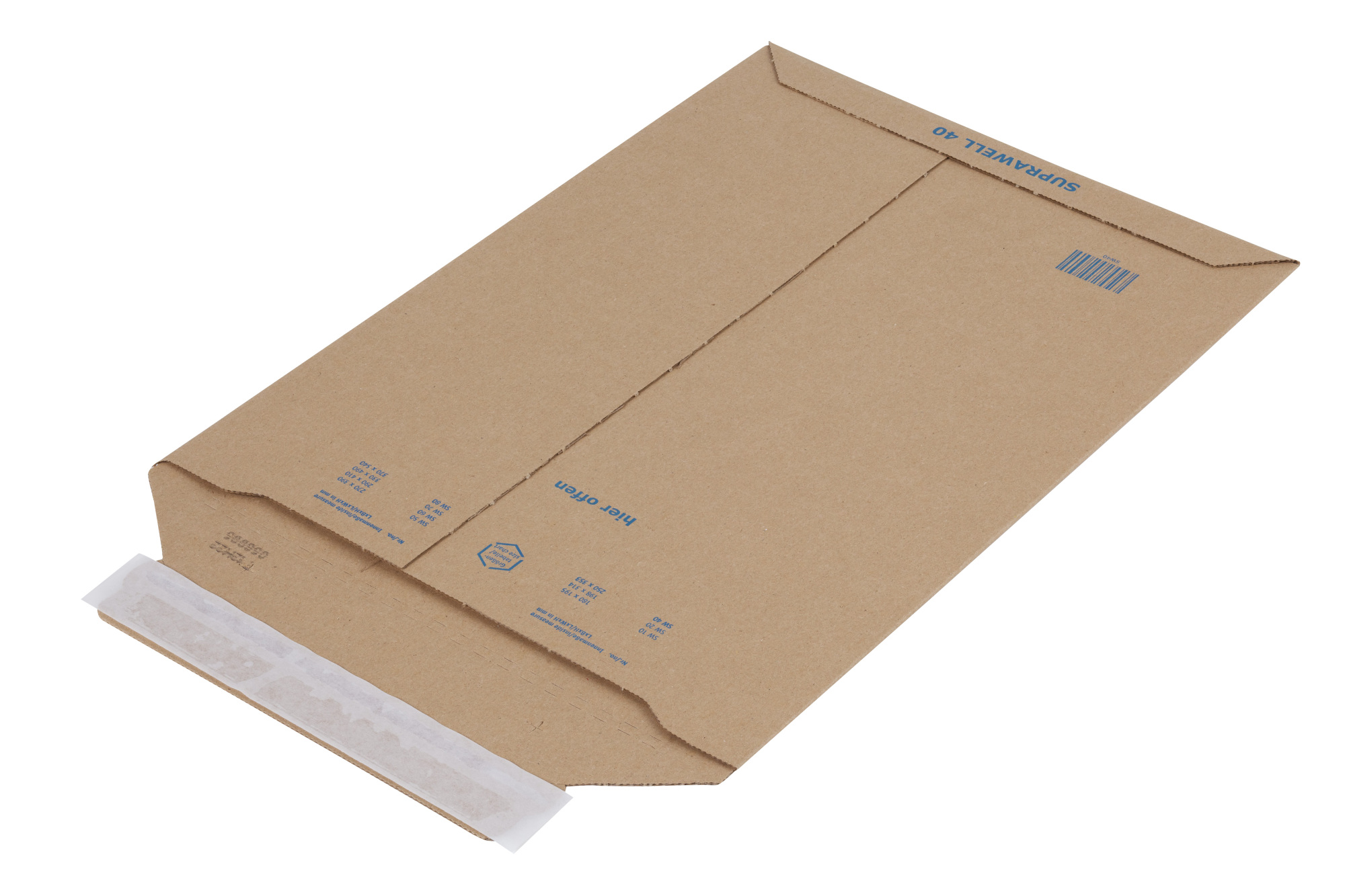 Suprawell Corrugated Envelopes 370 x 540mm (75/Box)