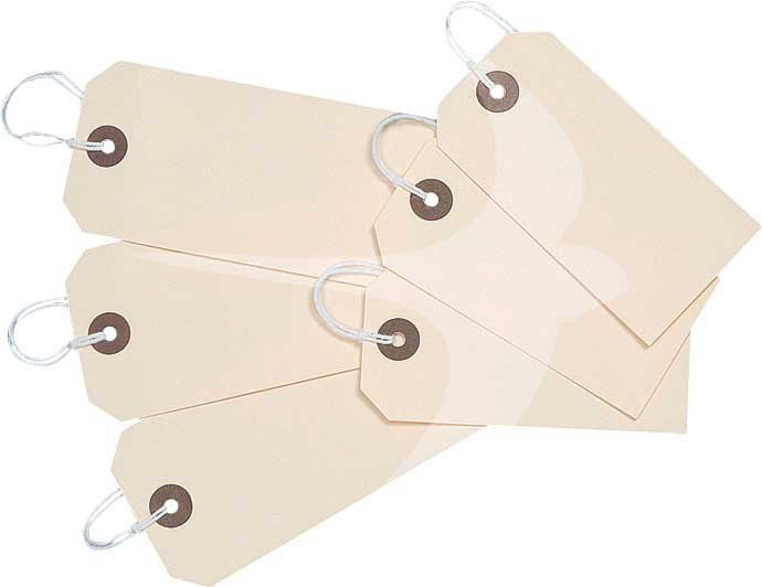 108 x 54mm Manilla Tie on Tags