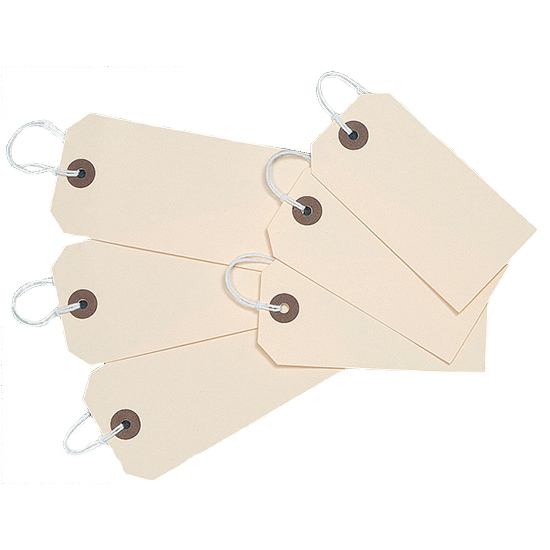 82 x 41mm Brown Tie on Tags