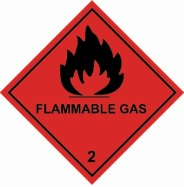 100 x 100mm Flammable Gas