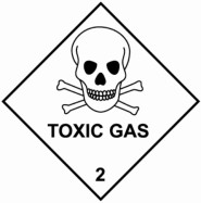100 x 100mm Toxic Gas