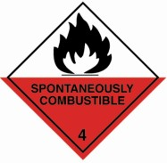 100 x 100mm Spontaneuosly Combustable