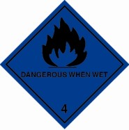 100 x 100mm Dangerous When Wet