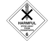 100 x 100mm Harmful - Stow Away Foodstuffs