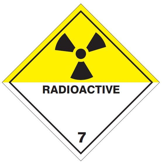 100 x 100mm Radioactive