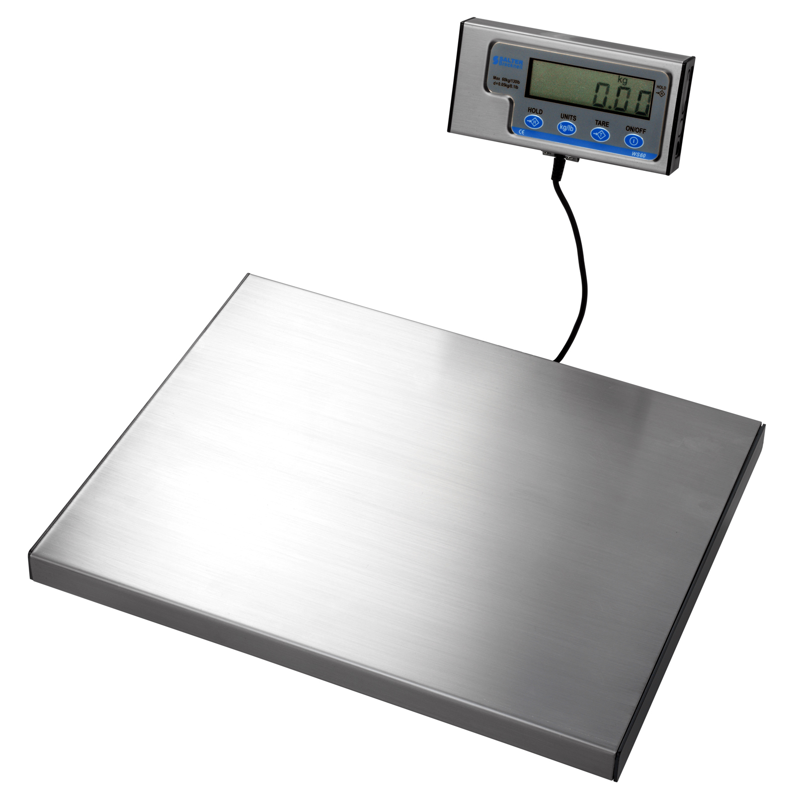 Small Platform Parcel Scale 380x300mm Up to 60Kg Capacity with .02g Increments
