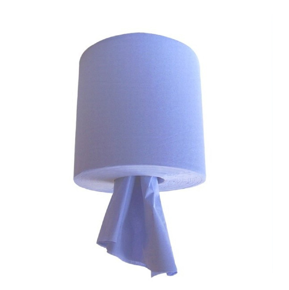 195mm x 144m Blue 2 Ply C/F Wiper Roll