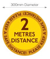 Circular Floor&Pavement Stickers 300mm Dia '2 Metres Visual Graphic'