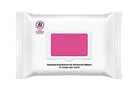 Anti-Bacterial Universal Wipes Supplied 24 Packs of Wipes/Box