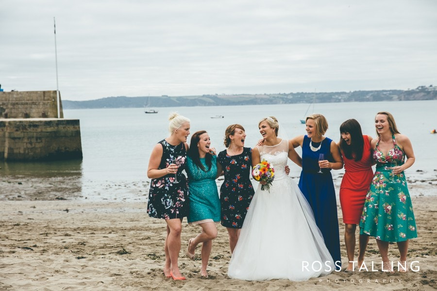 Wedding Photography Cornwall Polkerris Beach by Ross Talling Hollie & George_0080