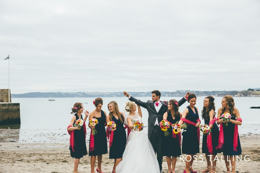 Wedding Photography Cornwall Polkerris Beach by Ross Talling Hollie & George_0079