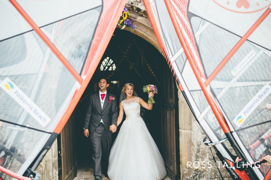 Wedding Photography Cornwall Polkerris Beach by Ross Talling Hollie & George_0059