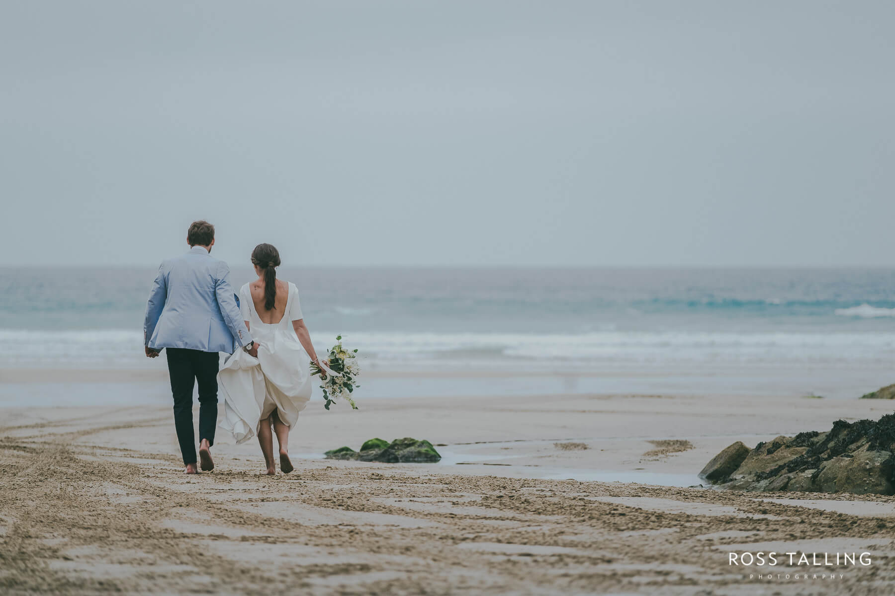 Beach wedding photography in Cornwall by Ross Talling
