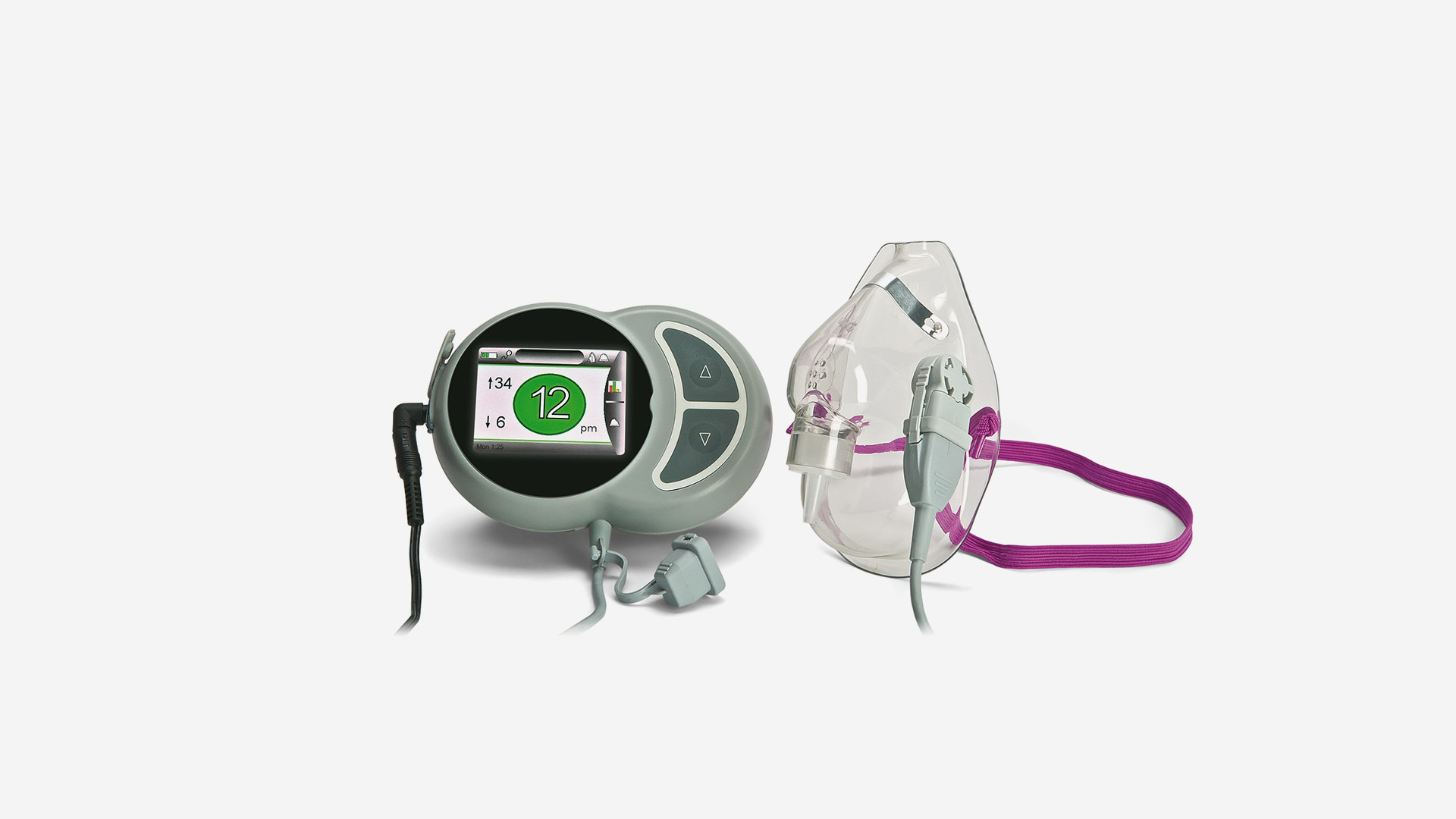 Breathing rate monitor for hospitals