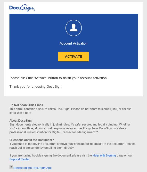 docusign-account-activate