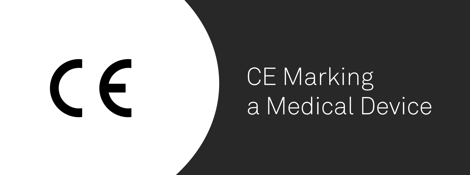 A banner representing CE marking for medical devices