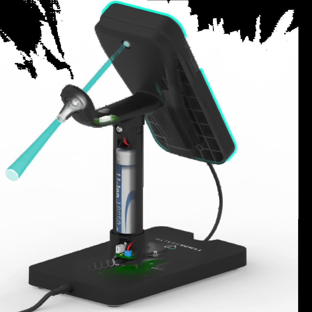 view of the digital otoscope optics rendering