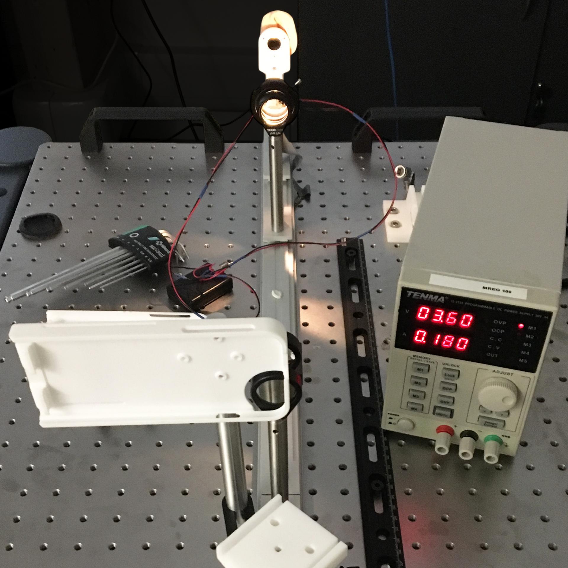 View of the digital otoscope design process