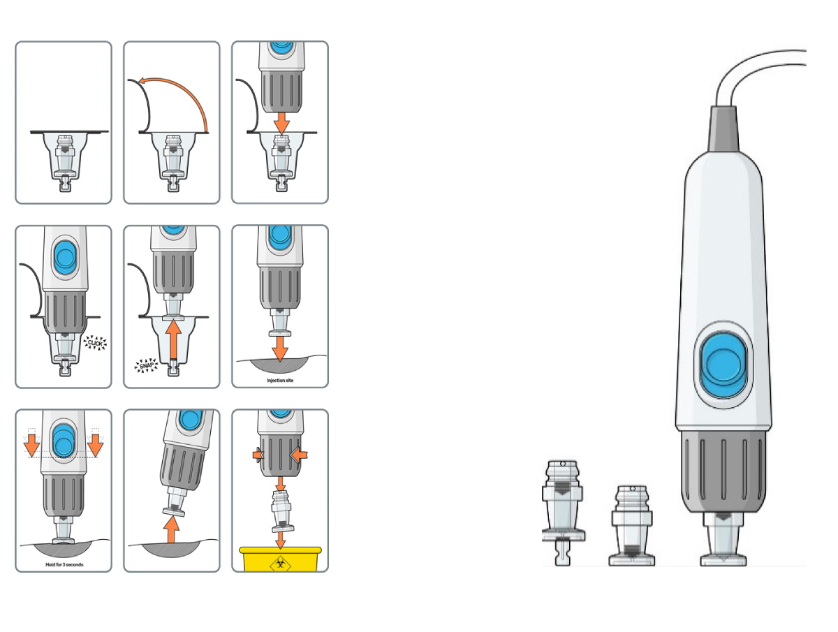 Drawing of pressurised nitrogen injection device
