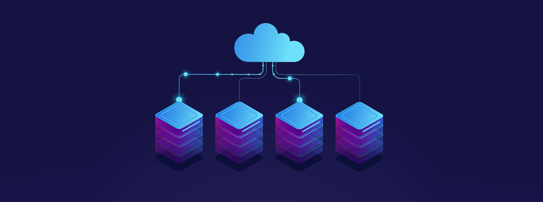 Graphic representing cloud connectivity to devices