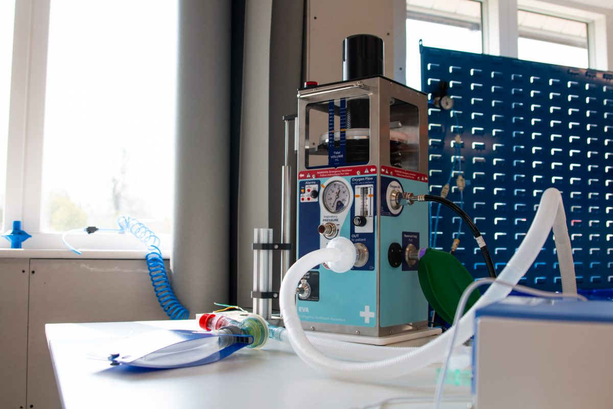 A ventilator in the initial stages of development