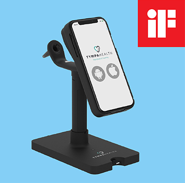 Tympa Health's hearing health device Tympa System is an iF Design Awards 2021 finalist.