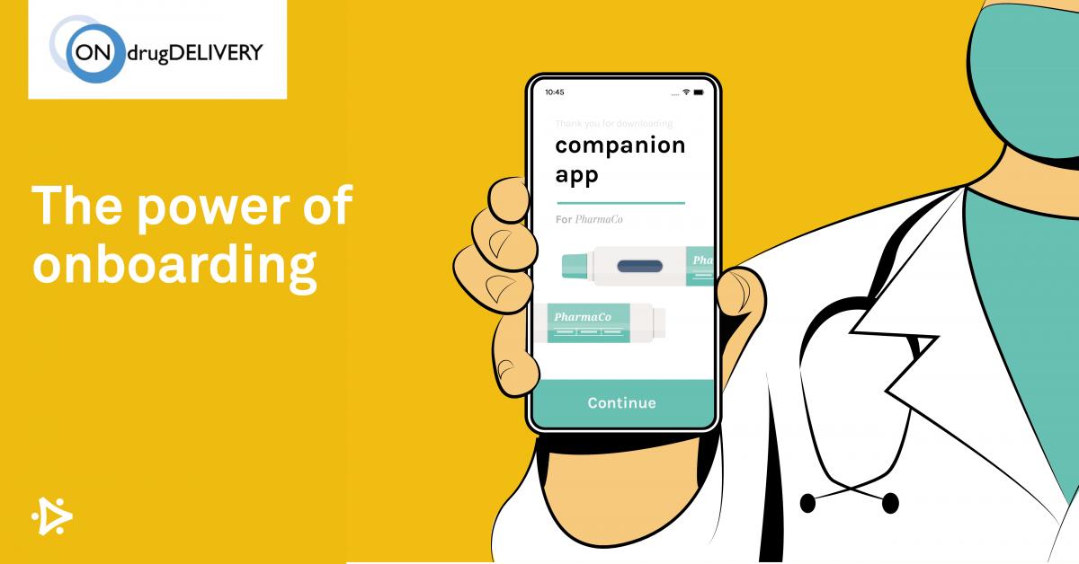 Doctor holding companion app