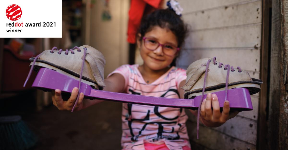 Purple MiracleFeet foot brace