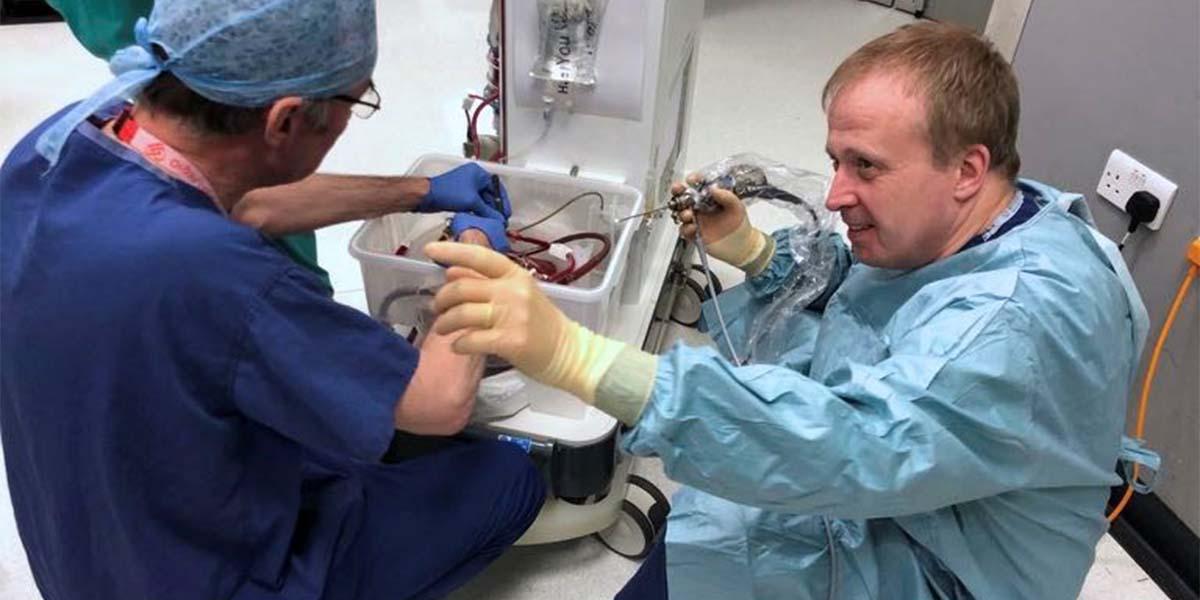 Surgeons on floor