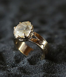 Telos Magic Sun Ring Gold Upper View