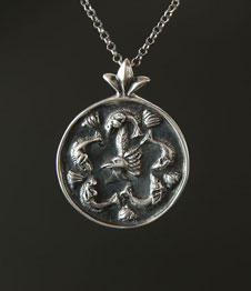 Telos Magic Venus Pisces Talisman Silver Front View