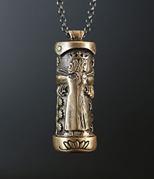 Telos Magic The Alchemical Wedding Pendant Brass Front View