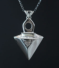 Telos Magic Mars Talisman Silver Front View Black