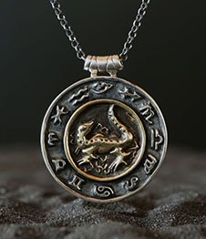 Telos Magic Fire Element Pendant Silver Chain