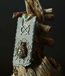 Telos Magic Jupiter Amulet 'mezuza' Side View