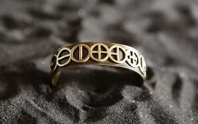 Telos Magic Golden Chain Of Homer Bracelet Front View