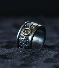 Telos Magic Masakatsu Agatsu Silver Ring Upper Side View