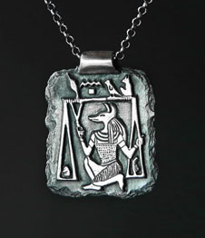 Telos Magic Anubis Amulet Silver Front Side