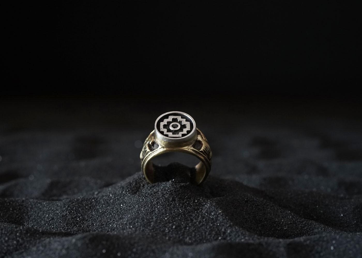 Telos Magic The Chakana Ring Gold View From Above