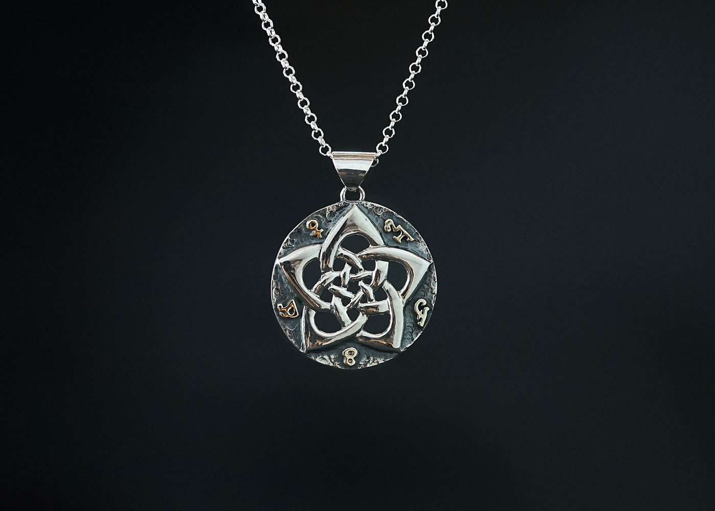 Telos Magic Venus Talisman Silver Front View