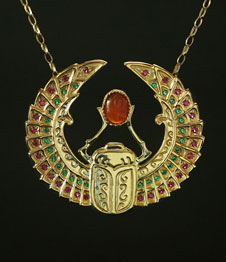 Telos Magic Egyptian Scarab Gold Front View